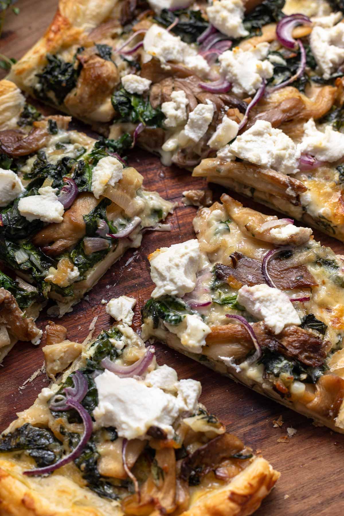 Blätterteig-Tarte mit Pilzen Rezept