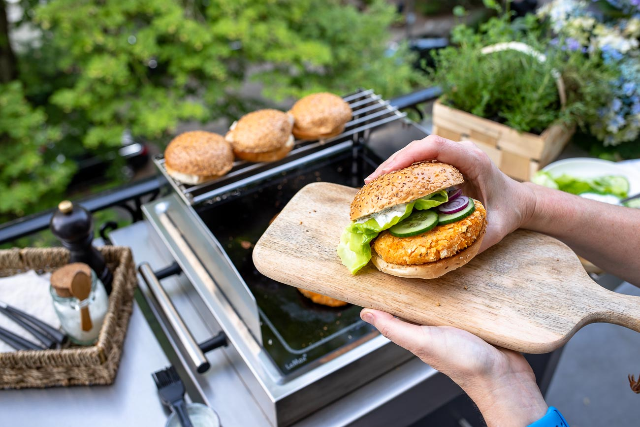 Sweet Potato Veggie Burger with LeMax Grill