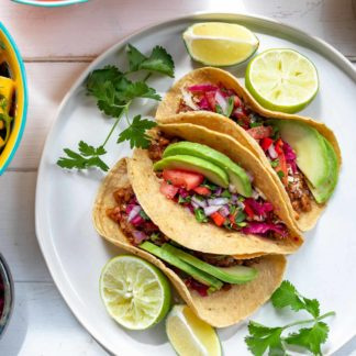 Linsen Tacos vegan