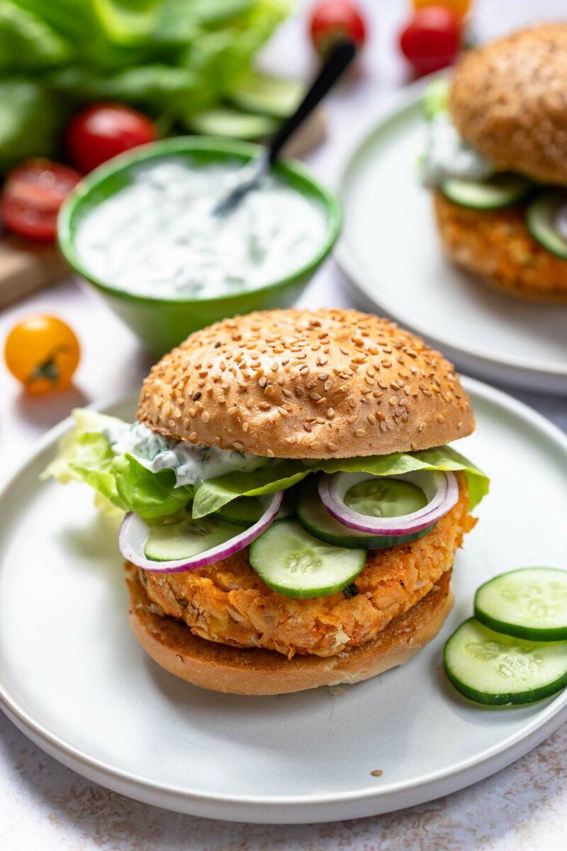 Vegetarische Süßkartoffel-Burger von LeMax Grill