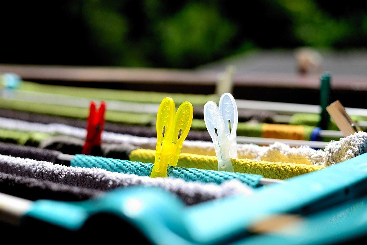 Wäsche hangen: Energiesparen