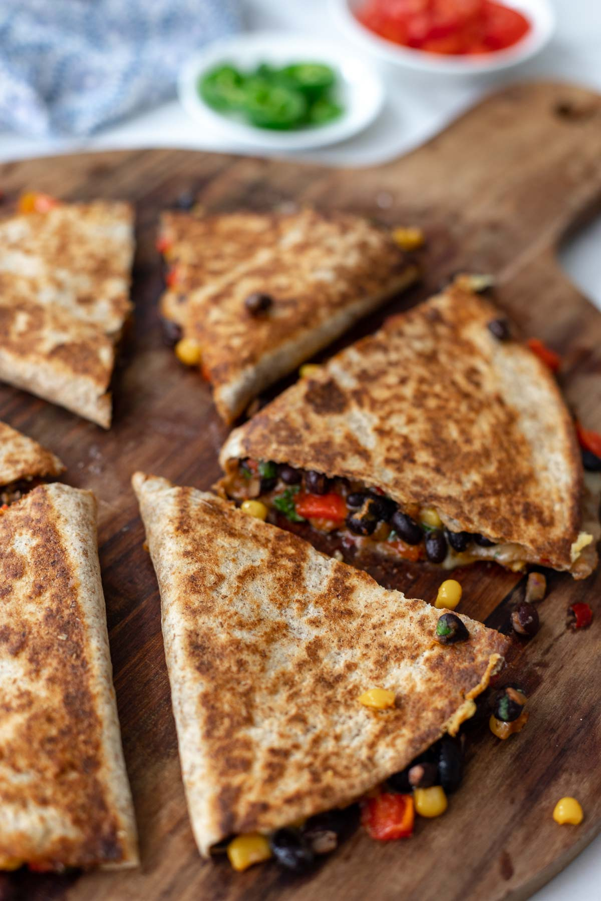 Schwarze-Bohnen-Quesadillas