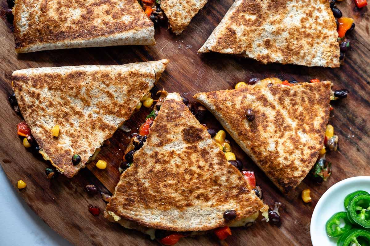 Schwarze-Bohnen-Quesadillas Rezept
