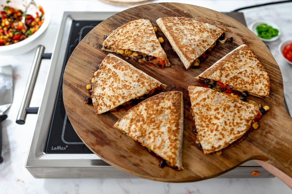 veggie Quesadillas with LeMax Grill