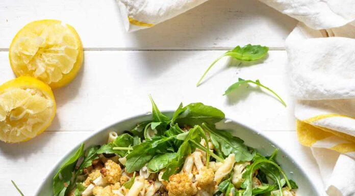 Blumenkohl-Nudelsalat mit Kichererbsen Rezept