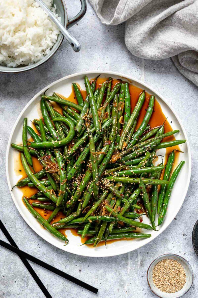 Gebratene grüne Bohnen nach asiatischer ArtRezept