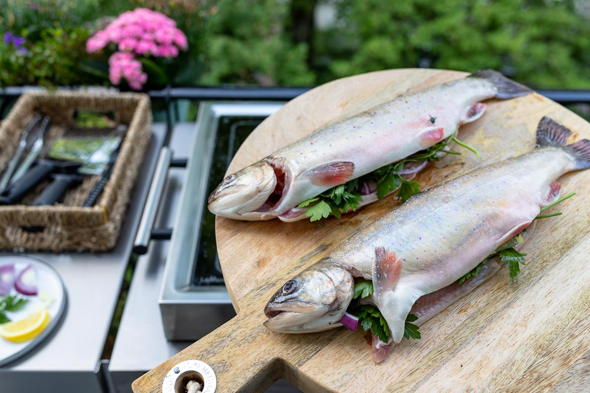 Grilled Char: Whole Grilled Fish