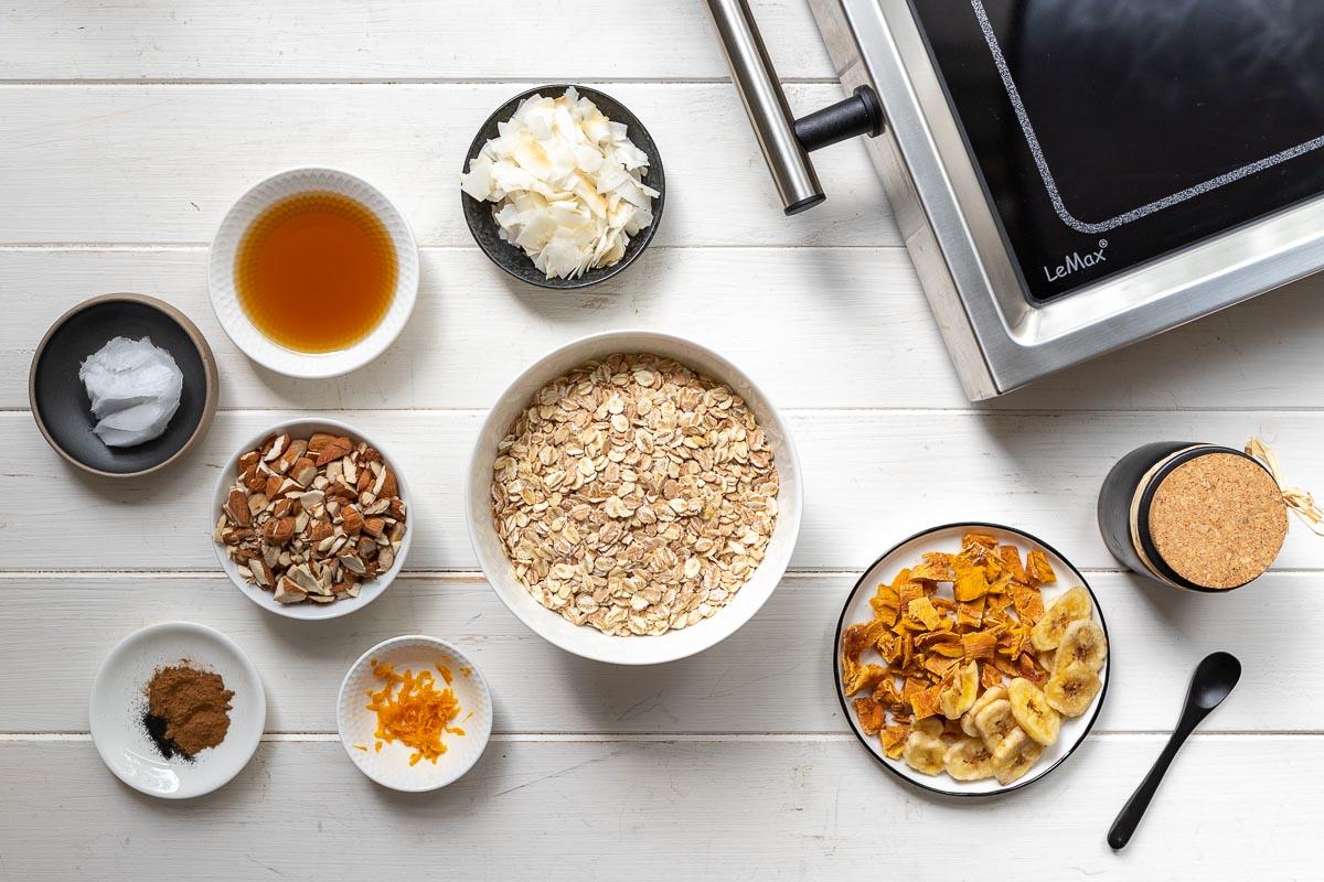 Zutaten für Granola