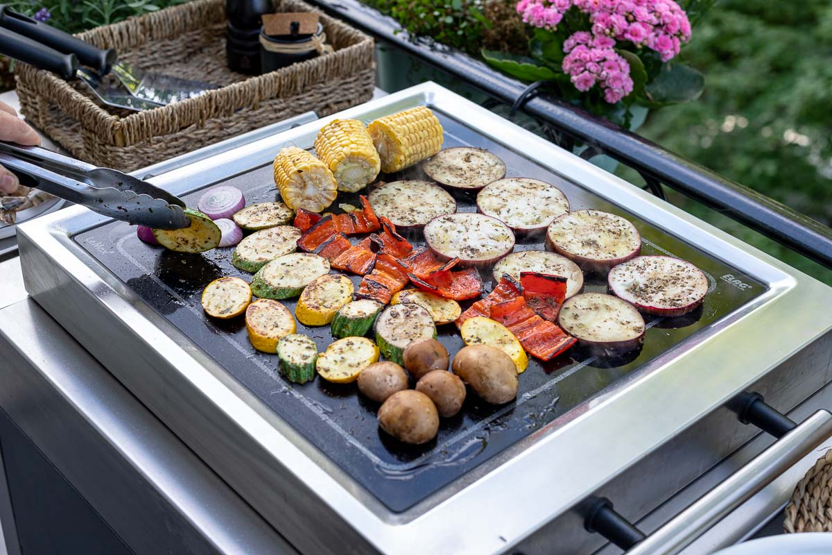 Vegetables on the  LeMax Grill