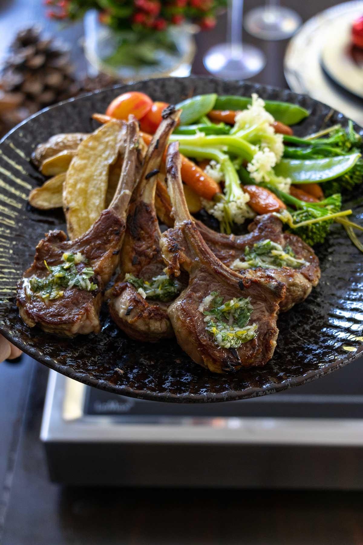 Lamb Chops with Lemon-Mint Gremolata